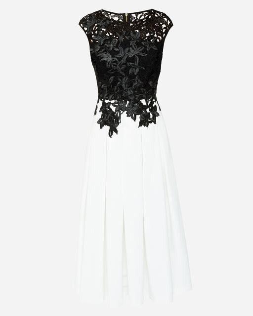 d0080c8415df45 Ted Baker Ladies Ilsa Embroidered Appliqué Midi Dress Black Sale Outlet  Black  Sale Short Dresses £124.75