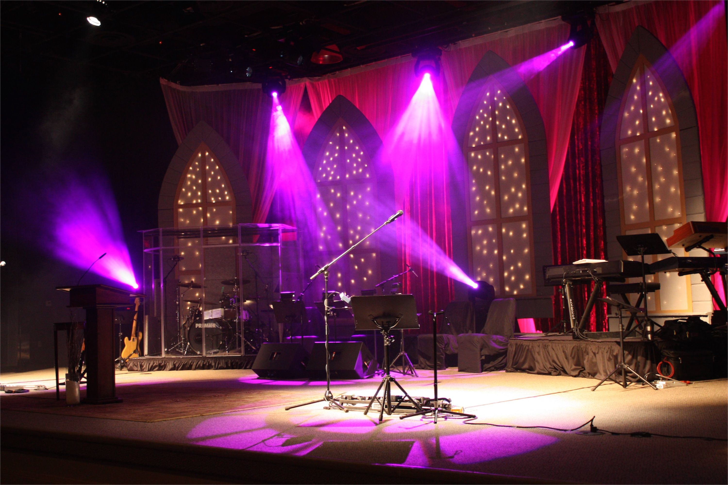 Starry Night At Cornerstone Fellowship In California Church Stage Design Ideas