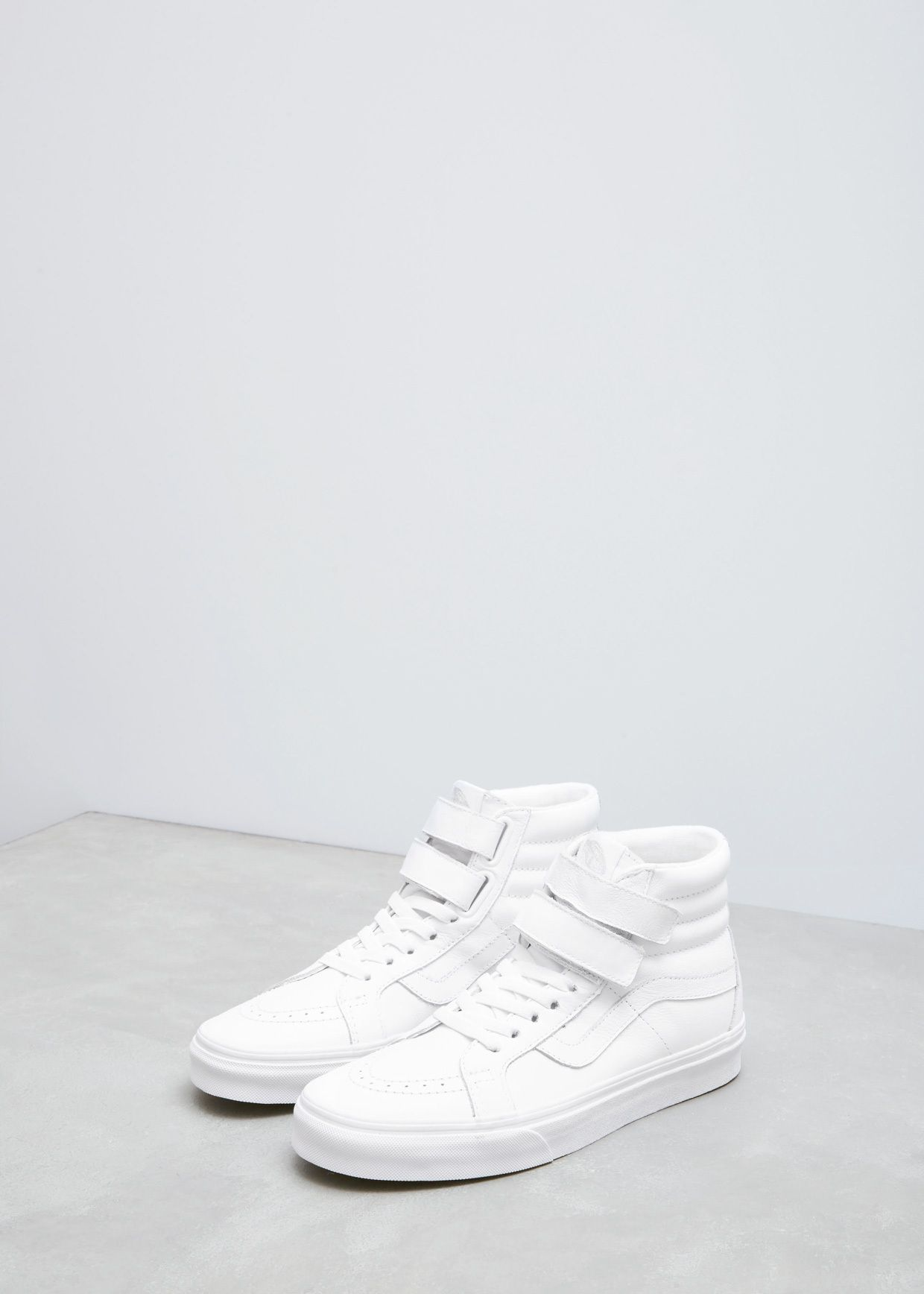 9721c9249e Vans Women s UA Sk8-hi Reissue V (True White Mono Leather)