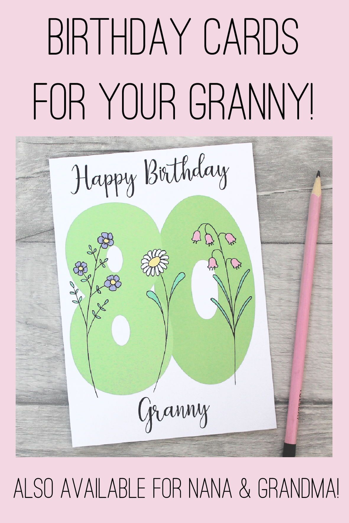 80th Happy Birthday Card Personalised Age 80 Card Etsy 80th Birthday Cards Grandma Birthday Card Happy Birthday Cards