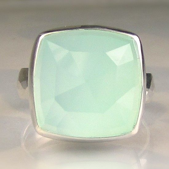 Sea Green Chalcedony Cocktail Ring by JanishJewels on Etsy, $135.00