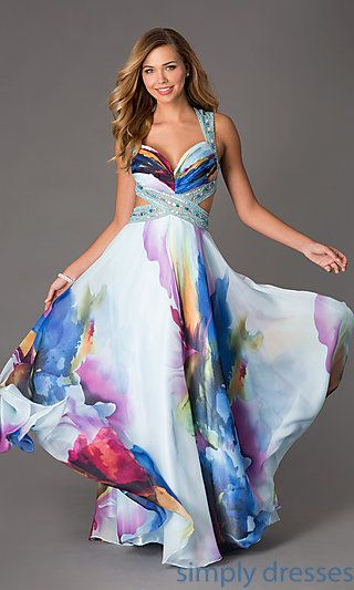 Floor Length Floral Print Dress By Dave And Johnny Outfits