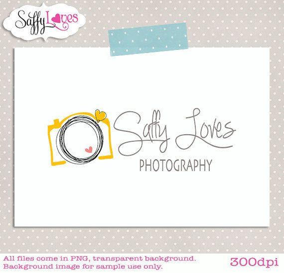Yellow Camera logo. Cute card idea