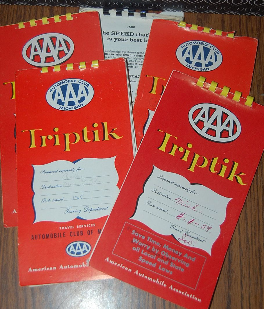Vintage AAA Triptik Travel Map Guide USA Maps1960Set of 5 – Aaa Travel Maps
