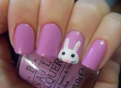 Lil' bunny nail art design