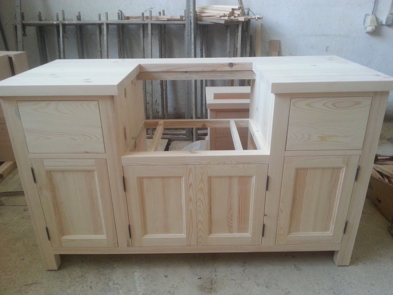 Solid Pine Belfast Sink Kitchen Unit for 600mm width sink in Home ...