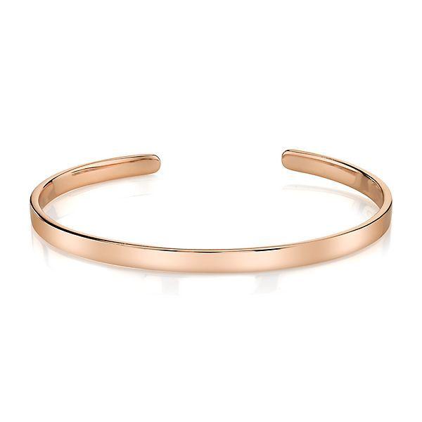 Polished Cuff Bracelet In 10K Rose Gold Over Sterling