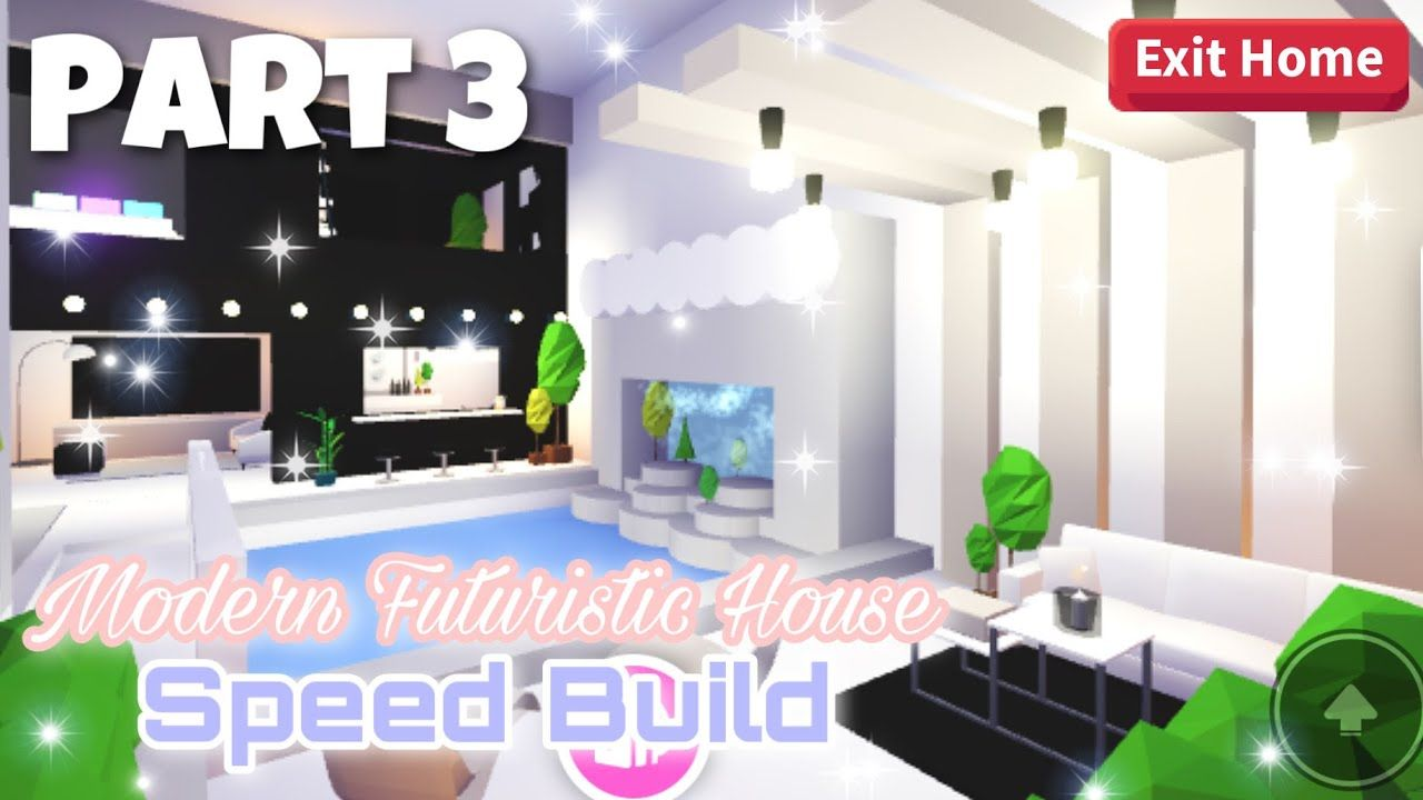 Modern Futuristic House Part 3 Roblox Adopt Me Youtube In 2020 Futuristic Home Cute Room Ideas My Home Design