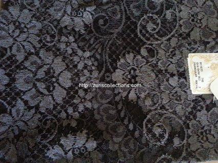 MODELO: Encaje MATERIAL: Espanola Tradicional MARCA: Leavers COLOR: Oxford FN/ Turbulence grey SIZE: 115x60cm   Encaje unico de Espana conocido por muy suave con efecto de poco peso.  Made in Spain