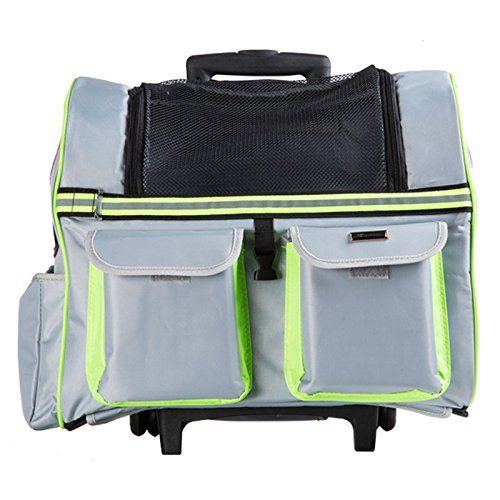 c4ddf671211 Pet Backpack Roller - TOOGOO(R) Portable Pet Carrier Dog Cat Rolling  BackPack Travel Airline Wheel Luggage Bag (Coffee) *** Check this awesome  product by ...