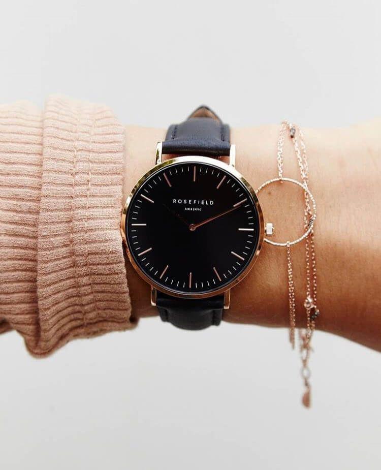 747e81377 Elegant Rosefield ladies watch with black strap. • Elegantní dámské hodinky  Rosefield. #rosefield #watches #hodinky #womenswatches #watchesofinstagram  # ...