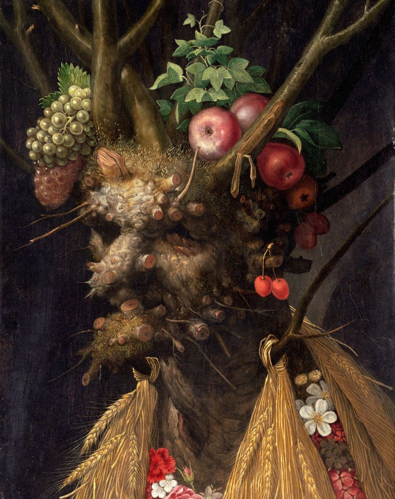 Four Seasons In One Head Giuseppe Arcimboldo Art Print