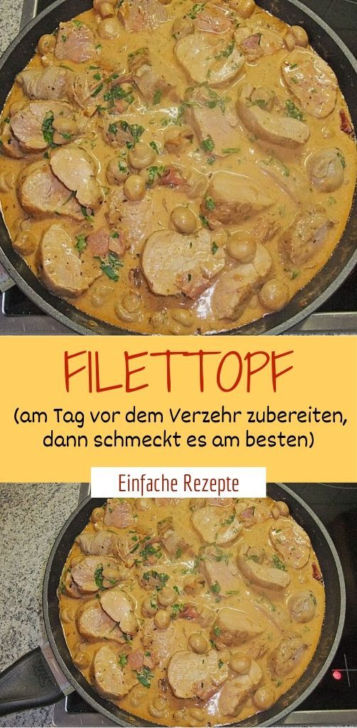 Photo of Fillet pot (prepare the day before eating, then taste …