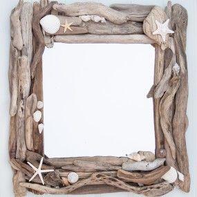 Spiegel Mit Bilderrahmen bilderrahmen oder spiegel mit schwemmholz und muscheln pinteres