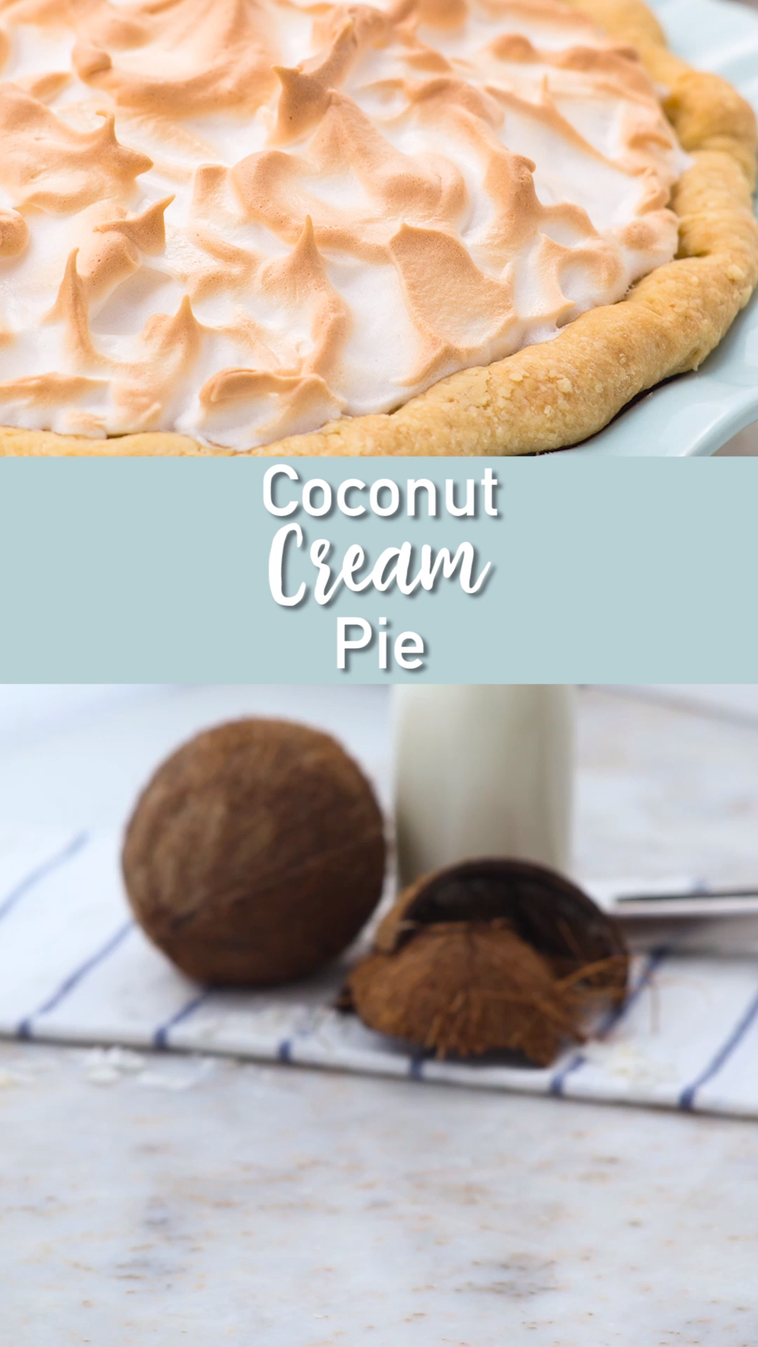 Coconut Cream Pie #sugarcreampie