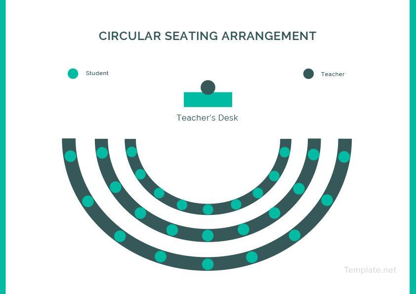 Circular seating arrangement classroom template pdf