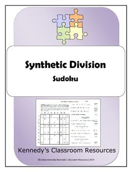 Synthetic Division - Sudoku | Sudoku puzzles, Division and Puzzles