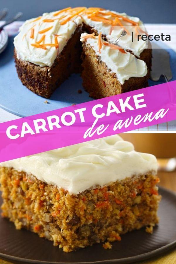 RECETA DE CARROT CAKE DE AVENA: ¿Quieres probar una RECETA FITNESS SALUDABLE? #... - #avena #Cake #C...