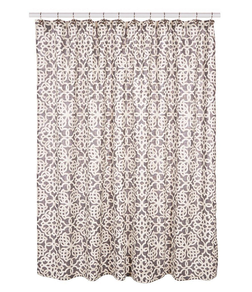 Gray:Southern Living Tile Cotton Shower Curtain