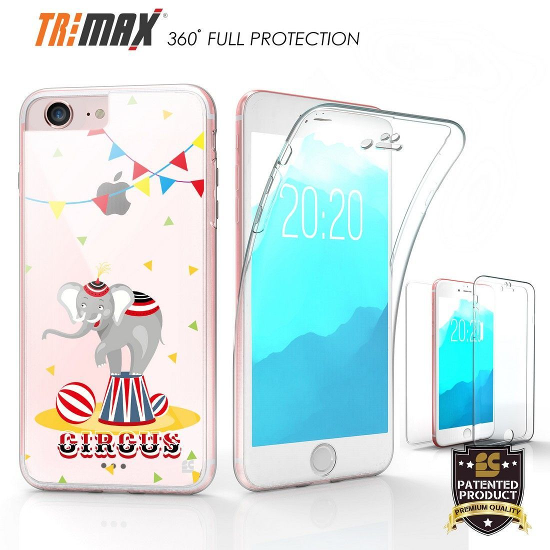Tri Max For Apple iPhone 7 Circus Elephant