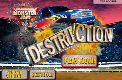 العاب سيارات الوحش في لعبة التدمير Monster jam, Toys