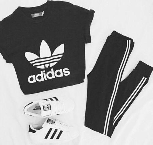 Adidas cropped hoodie-Sports store/$60 Adidas black joggers-Sports store/$40 Adi... - #Adi #Adidas #...