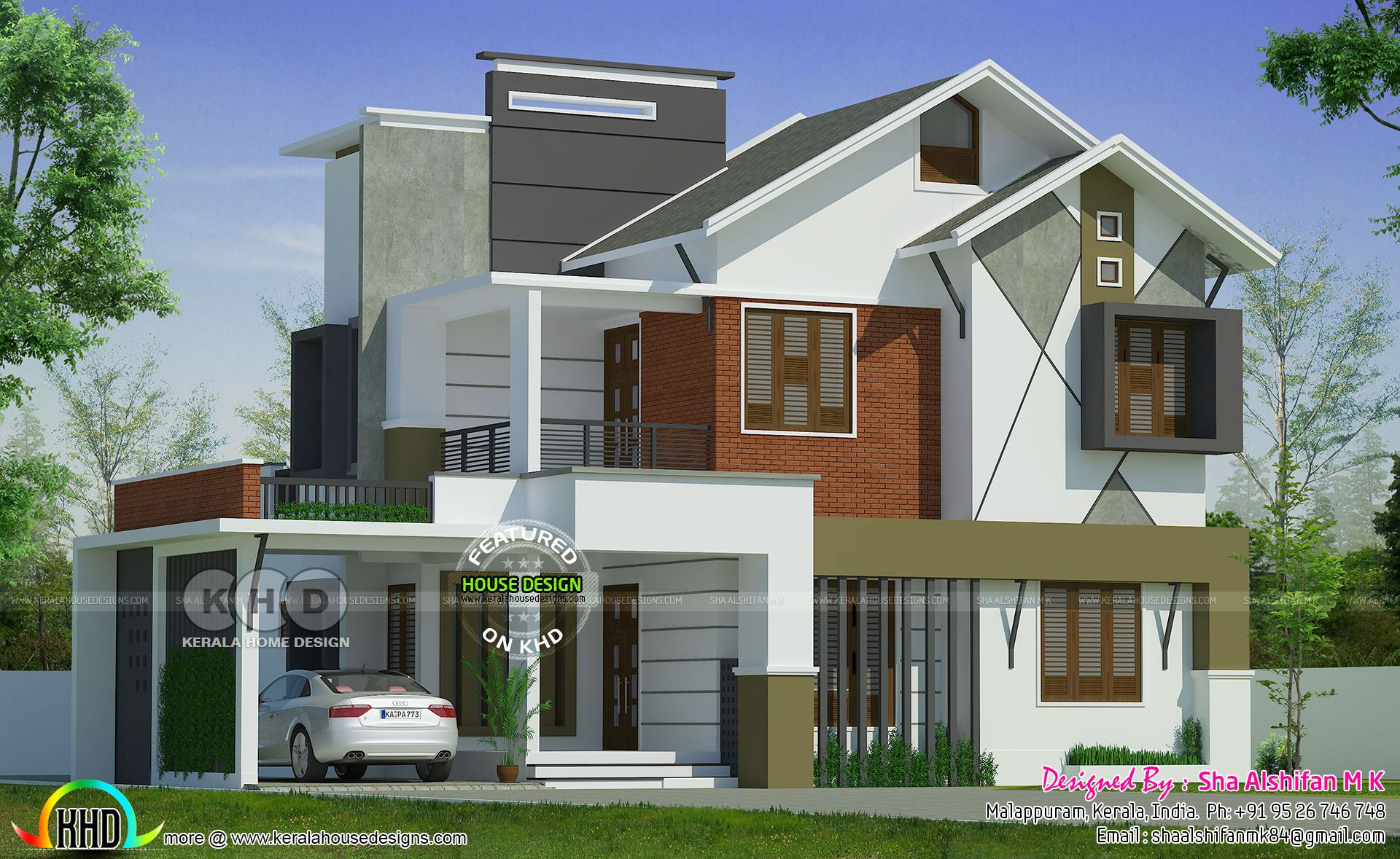 2153 square feet 4 bedroom mixed roof Kerala home