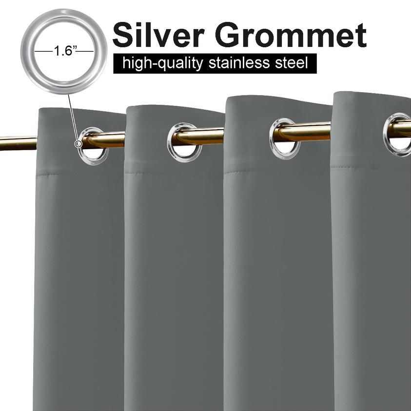 Snowcity Outdoor Waterproof Grommet Top And Bottom Curtains 1