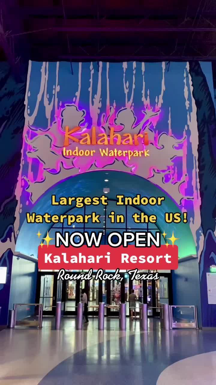 Amanda Spencer(@sanantoniofoodie) on TikTok: ✨NOW OPEN✨(PART 1) Kalahari Resort in Round Rock, Texas! #waterpark #kalahari #texas #texascheck #tiktoktravel #texastravel #weekendgetaway #fyp