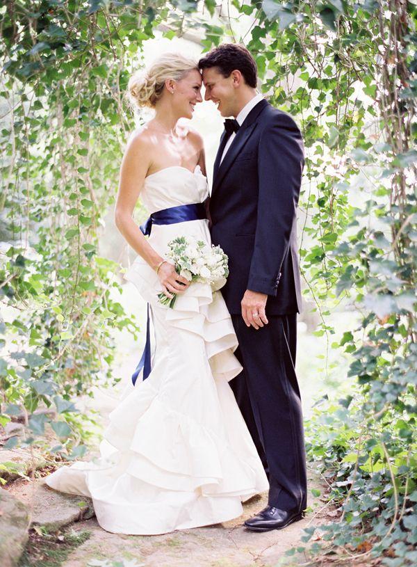 Inspiration White And Deep Indigo Wedding Once Wed