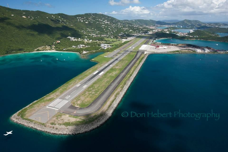 Landing in St Thomas USVI Cyril E