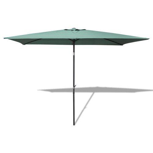 Large Hardwood 2m x 3m Wooden Pulley Garden Parasol Umbrella 10 Colours