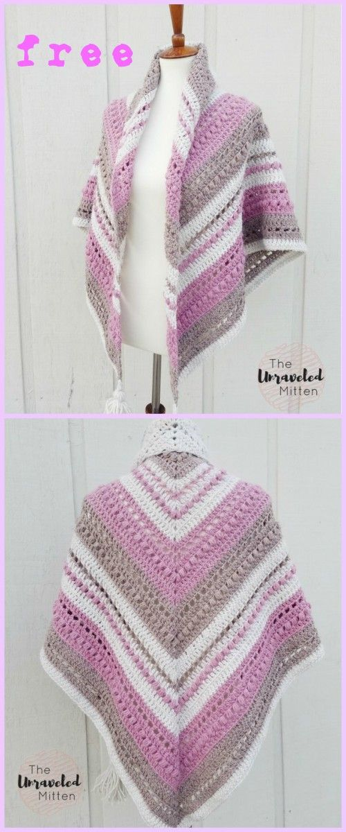 Crochet What You Love Shawl Free Pattern | Pinterest | Ponchos, Chal ...