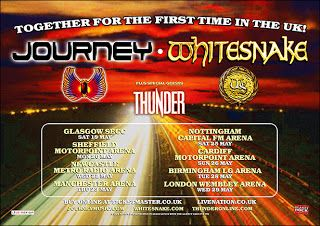 Journey', 'Whitesnake' and special guests 'Thunder' tour the UK in May 2013