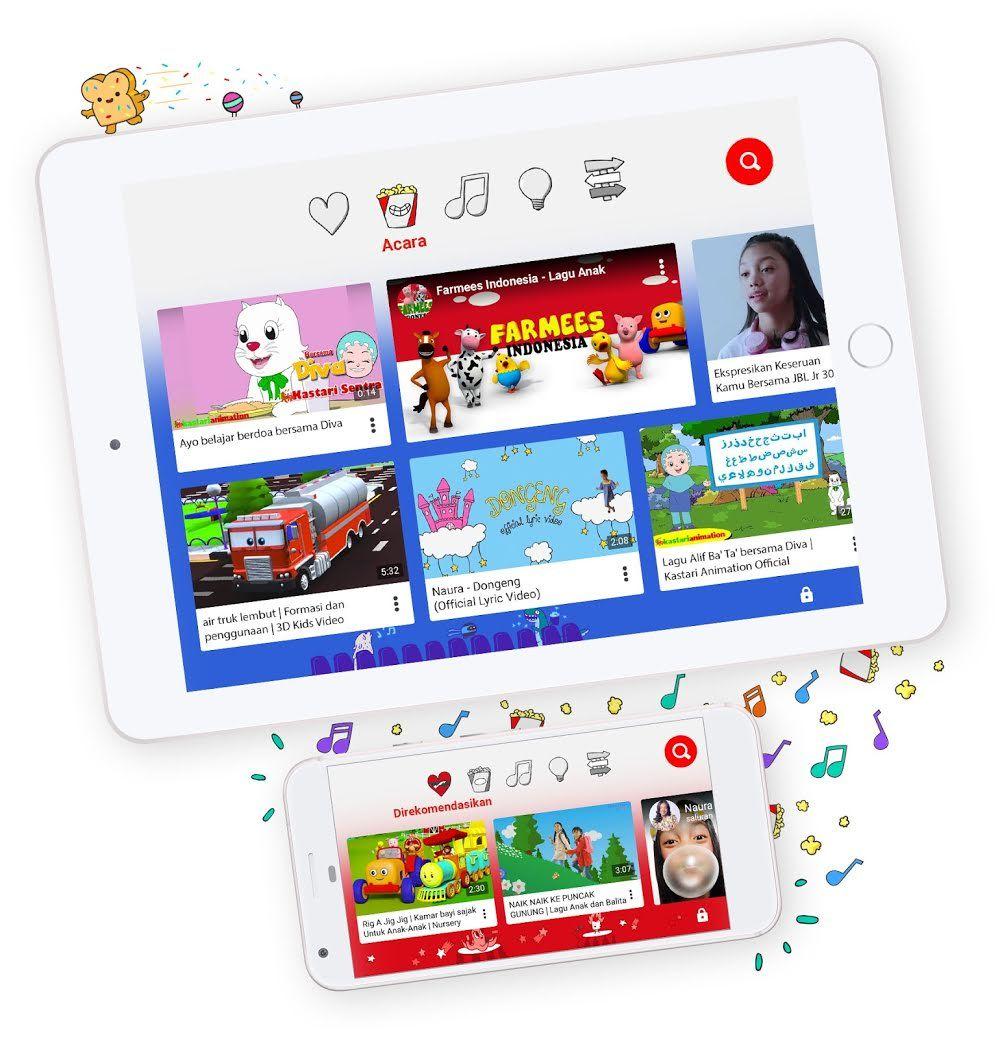 Belajar Melalui Aplikasi Youtube Kids Anak Youtube Aplikasi