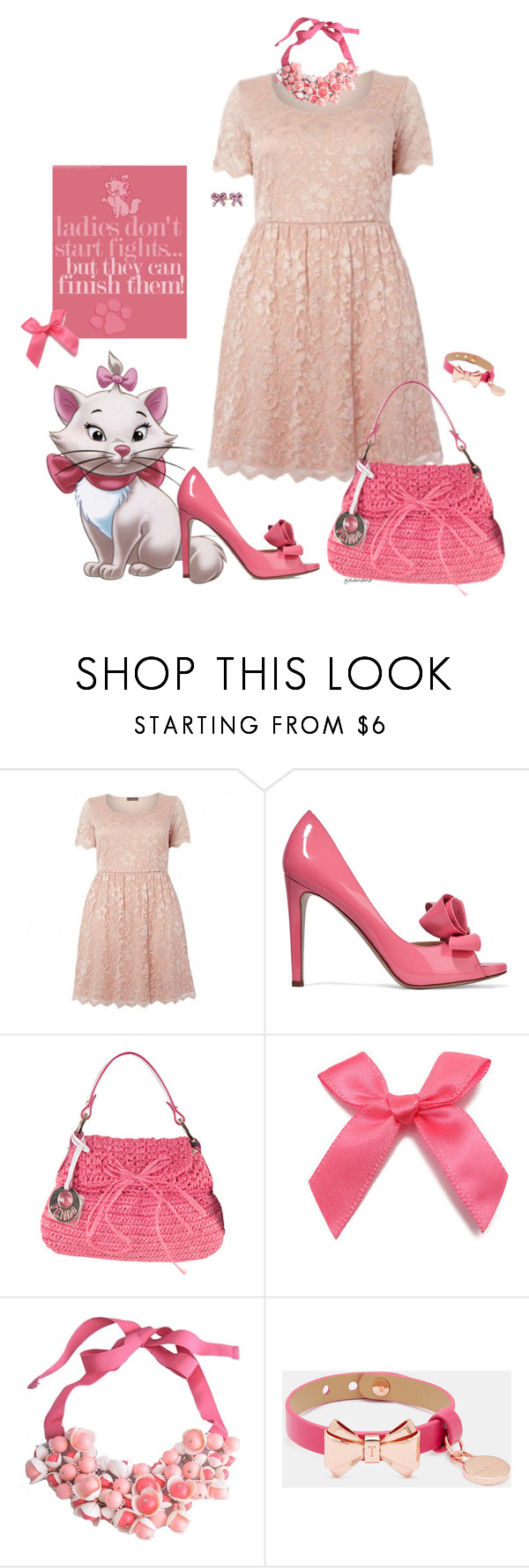 """""Because I'm a lady, that's why!""- plus size"" by gchamama ❤ liked on Polyvore featuring Disney, Valentino, Fendi, P.A.R.O.S.H., Ted Baker and Marie"