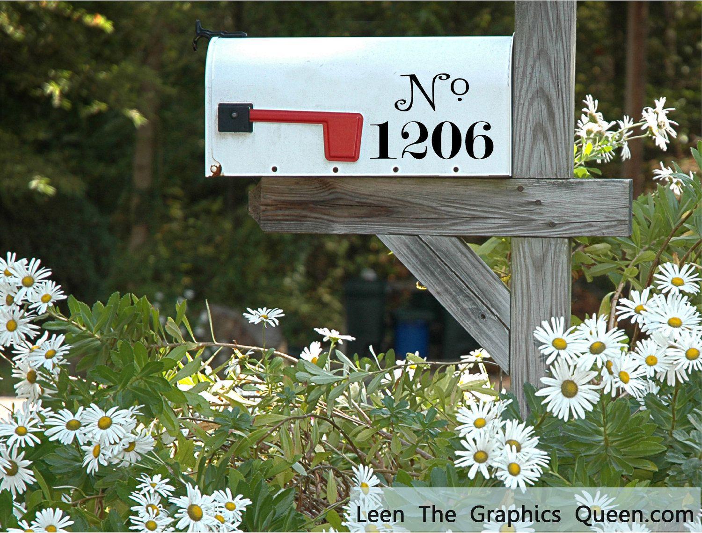 Mailbox Number Vinyl Decals Set of Three Increase Curb
