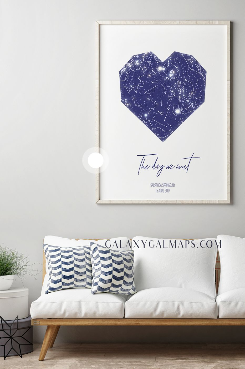 Custom Star Map - Arizona Map State of Arizona Wall Art Frame Canvas ...