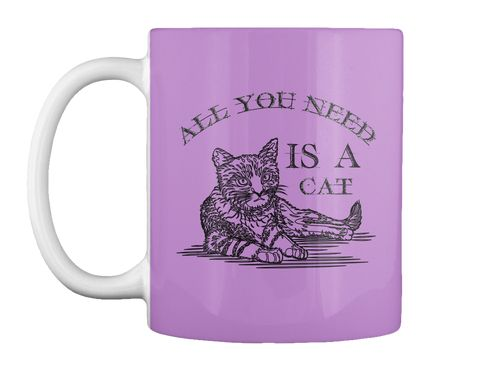 All You Need Is A Cat Lilac T-Shirt Front