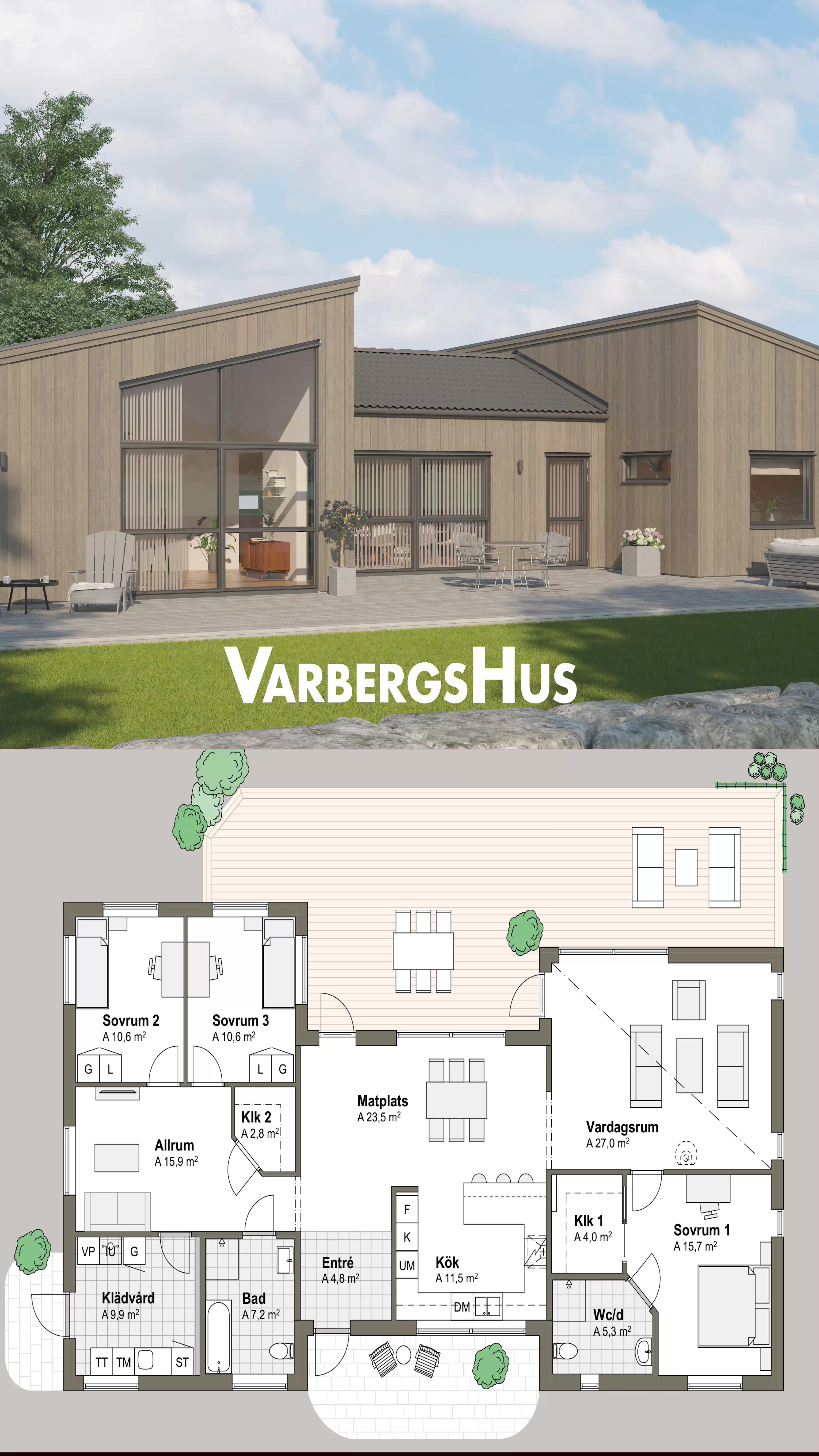 Grimsholmen 1-plans hus