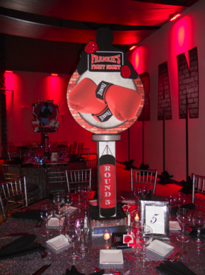 mitzvah inspire boxing boxing gym centerpieces and