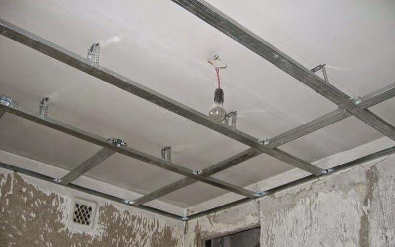 Как сделать висящий потолок 64