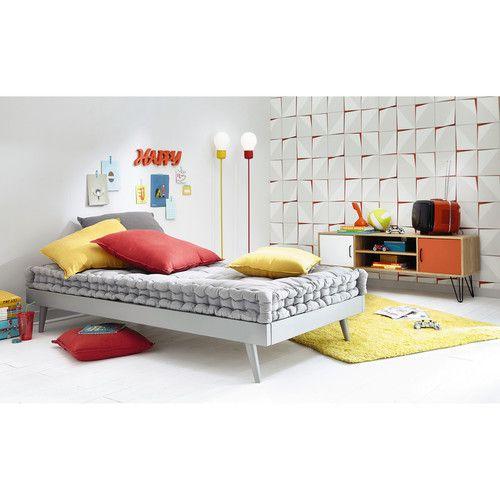 Materassi 90 X 190.Materasso Grigio In Cotone 90 X 190 Cm Sixties Furniture Home