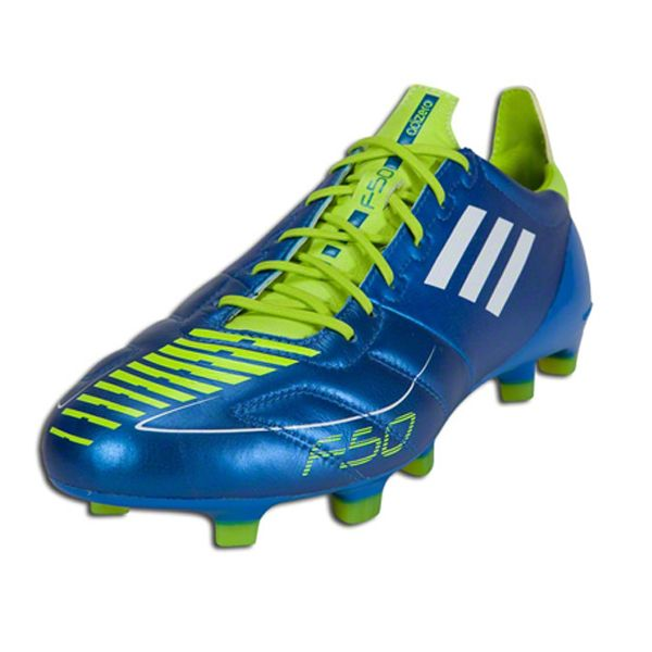 adidas F50 adizero TRX FG Soccer Shoes (Leather)  G51582  Anodized Blue  White Slime -  119.99 Save  43% OFF d90a3cb6a77ca