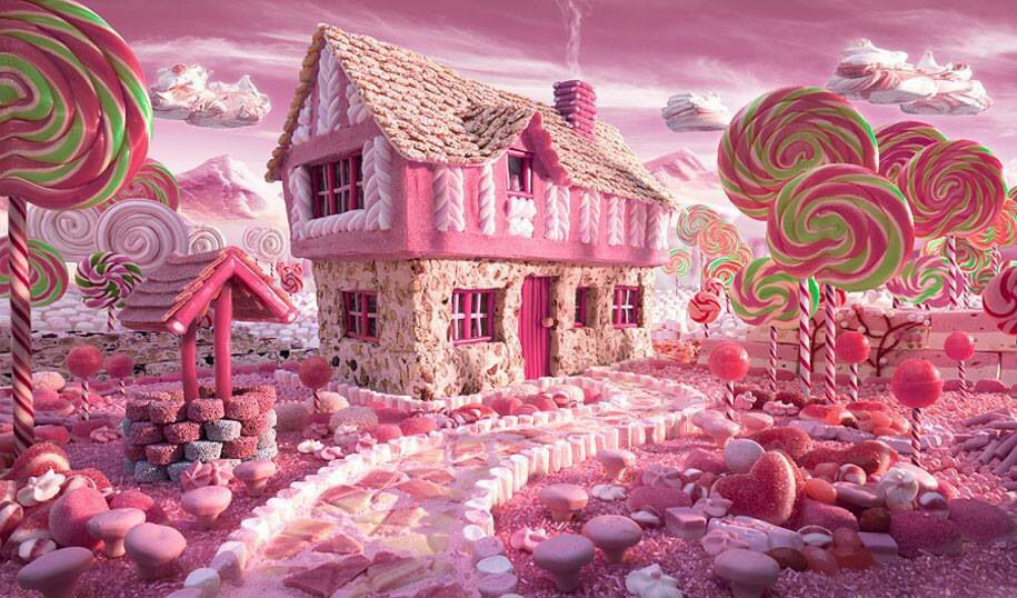 Fairytale landscape made out of food!
