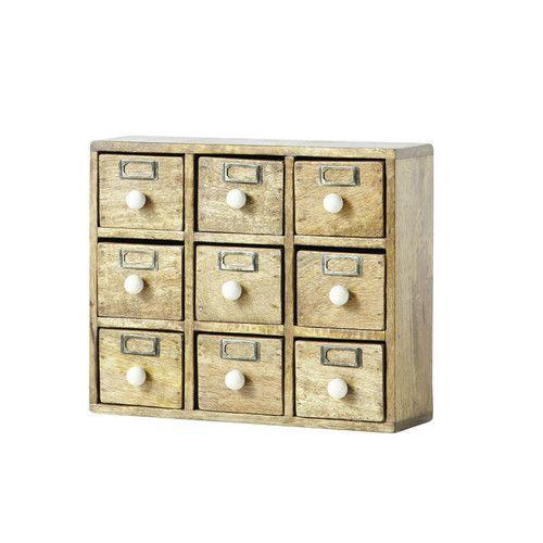 Caja De Almacenaje Con 9 Cajones Ugolin Boite De Rangement Tiroir Rangement