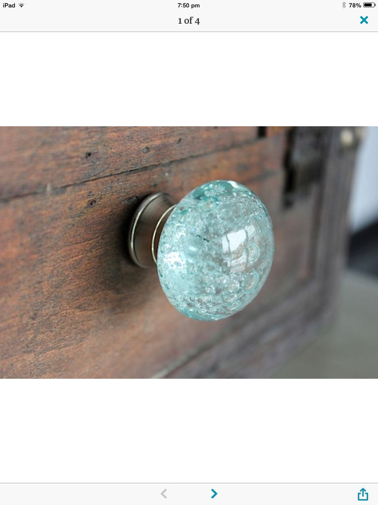 Glass knob | Kool Kitchens!! | Pinterest | Glass knobs, Glass and ...