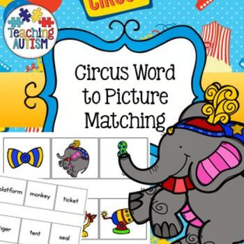 Circus sWord to Picture Matching ActivityThe word to picture matching activities are a fantastic resource for the autism classroom, especially with non-verbal students although can also be used within Spec Ed or General Ed Classrooms to promote reading.It will allow you to be able to monitor if your students are able to recognise and understand different words and link them to the appropriate picture.
