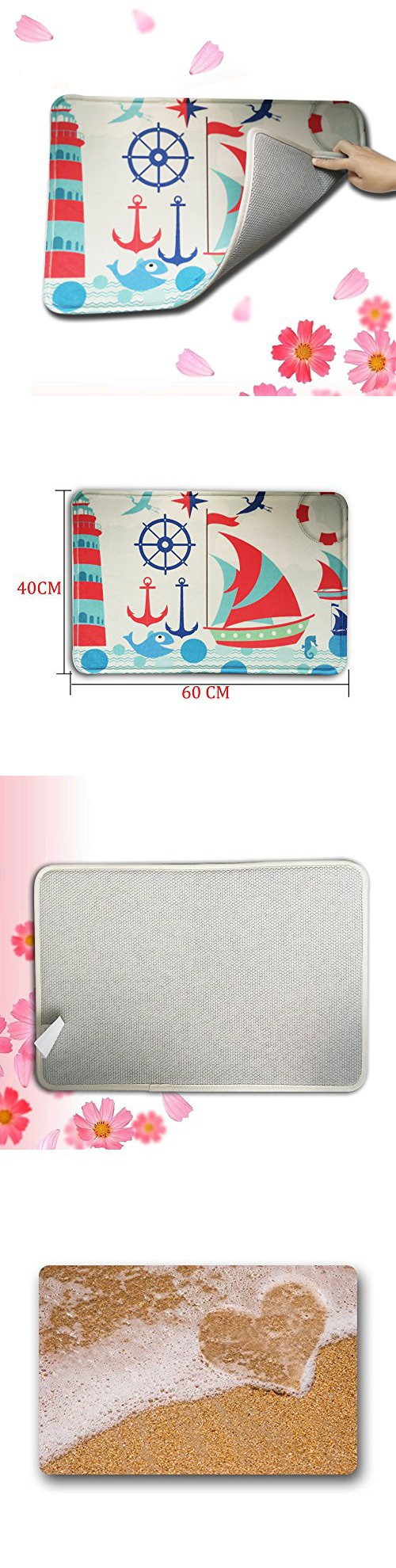 Shirley\'s Door Mats Custom Beach Theme Kitchen Rugs Cover Non-Slip ...
