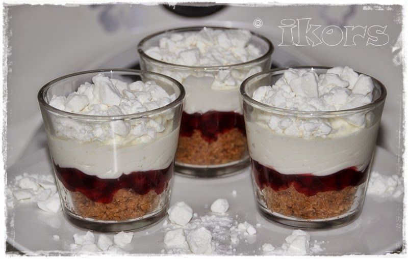 Schneeflockencreme(8 Port.) 180g Gewürzspekulatius 5 Sek./St.4 die Keksbrösel in 8 Dessertgläser verteilen...